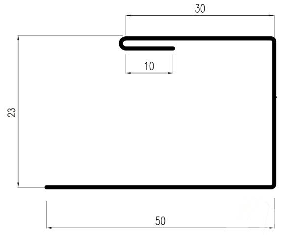 Планка торцевая (завершающая) DeckLine